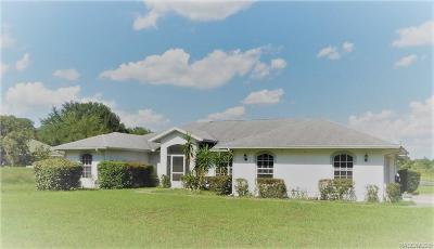 Inverness Single Family Home For Sale: 9779 E Baymeadows Drive