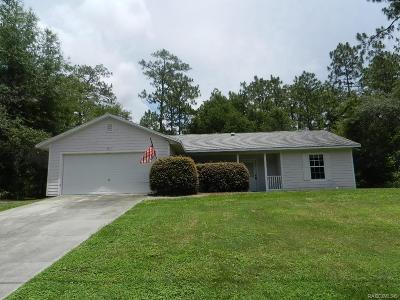 Citrus Springs Single Family Home For Sale: 6971 N Deltona Boulevard