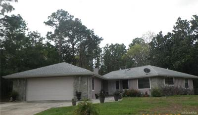 Homosassa Single Family Home For Sale: 89 Pine Street