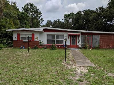 Inverness Single Family Home For Sale: 1418 Old Floral City Road