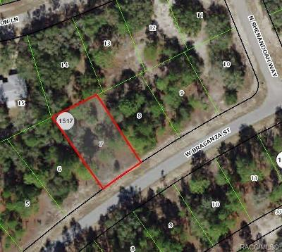Citrus County Residential Lots & Land For Sale: 2653 W Braganza Street