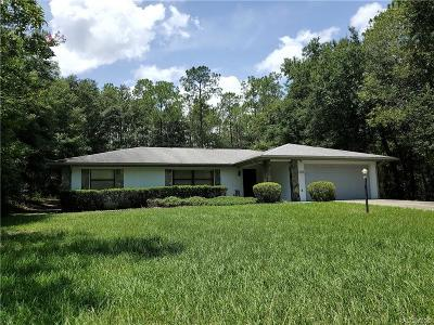 Citrus Springs Single Family Home For Sale: 10140 N Biscayne Drive