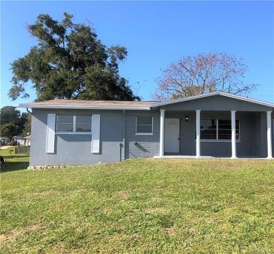 Citrus County Single Family Home For Sale: 52 S Desoto Street