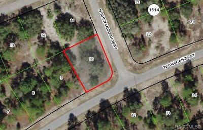 Citrus County Residential Lots & Land For Sale: 2607 W Braganza Street