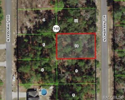 Citrus County Residential Lots & Land For Sale: 7240 N Embassy Terrace