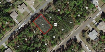 Citrus County Residential Lots & Land For Sale: 8567 N Spartan Drive