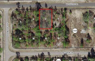 Citrus County Residential Lots & Land For Sale: 2890 W Gaucho Drive