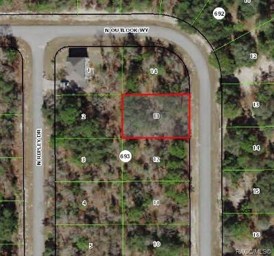 Citrus County Residential Lots & Land For Sale: 7220 N Outlook Way