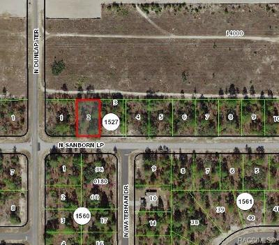 Citrus County Residential Lots & Land For Sale: 6820 N Sandborn Loop