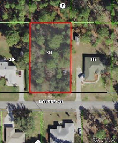 Citrus County Residential Lots & Land For Sale: 2565 E Celina Street