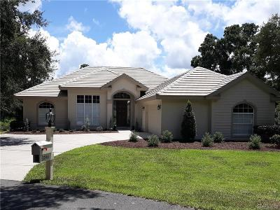 Lecanto Single Family Home For Sale: 3744 W Augusta Path