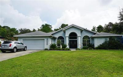Hernando Single Family Home For Sale: 1721 E Bismark Street