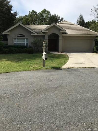 Lecanto FL Single Family Home For Sale: $237,000