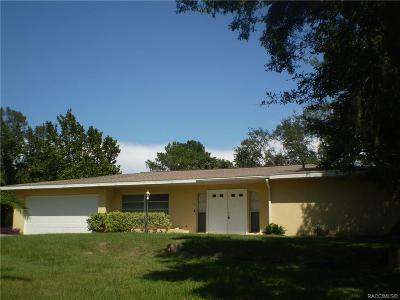 Lecanto FL Single Family Home For Sale: $269,000