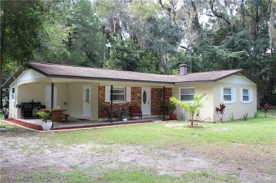 Crystal River Single Family Home For Sale: 1991 NW 15th Avenue