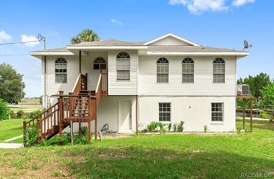 Crystal River Single Family Home For Sale: 14240 W Shorecliff Court