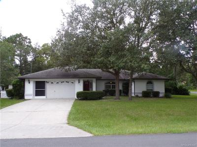 Citrus Springs Single Family Home For Sale: 8370 N Amboy Drive