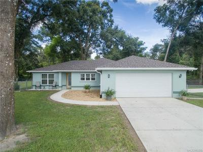 Floral City Single Family Home For Sale: 7620 S Old Floral City Road