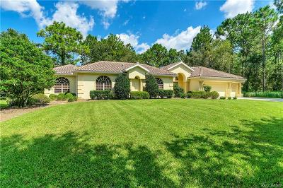 Homosassa Single Family Home For Sale: 31 Seagrape Street