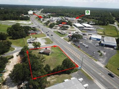 Crystal River Commercial For Sale: 6921 W Gulf To Lake Highway