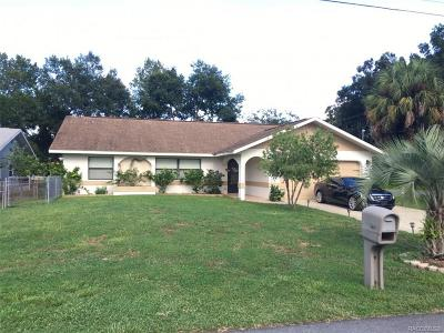 Crystal River Single Family Home For Sale: 3819 N Eagle Point
