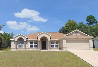 Citrus Springs Single Family Home For Sale: 51 W Norwood Place