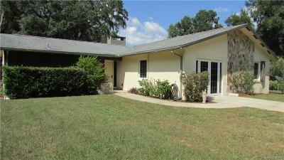 Floral City Single Family Home For Sale: 8955 E Daniels Road