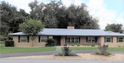 Inverness Single Family Home For Sale: 3022 S Circle Drive