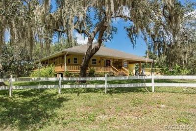 Citrus County Single Family Home For Sale: 4149 E Shorewood Drive