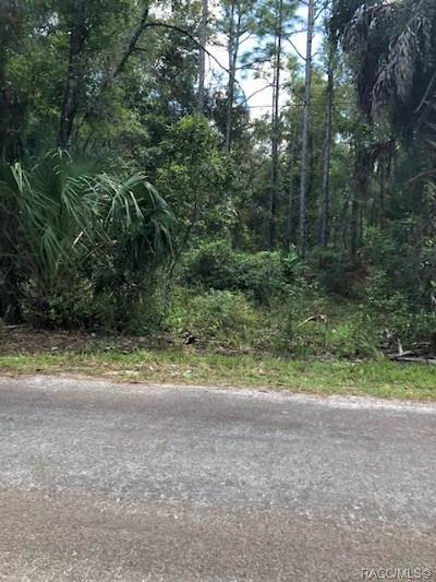 Homosassa Residential Lots & Land For Sale: 8048 W Fern Place