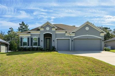 Citrus County Single Family Home For Sale: 134 Corkwood Boulevard