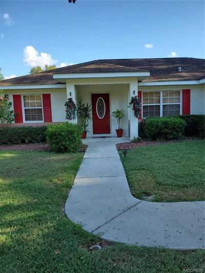 Citrus County Single Family Home For Sale: 7973 N Golfview Drive