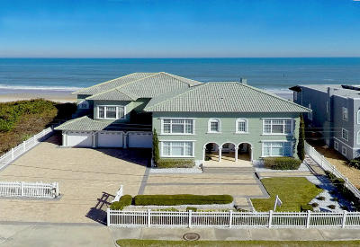 Flagler County, Volusia County Single Family Home For Sale: 33 Ocean Shore Boulevard