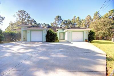 Palm Coast Single Family Home For Sale: 3 Frank Place #A+B