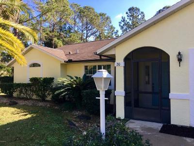Palm Coast Single Family Home For Sale: 20 Pebble Wood Lane