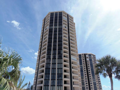 Daytona Beach Shores Condo/Townhouse For Sale: 1 Oceans West Boulevard #19A4