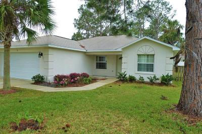 Palm Coast FL Single Family Home For Sale: $184,999