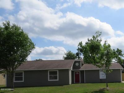 Port Orange Single Family Home For Sale: 1245 Thomas Drive