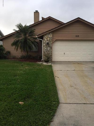 Daytona Beach Single Family Home For Sale: 113 Skimmer Way