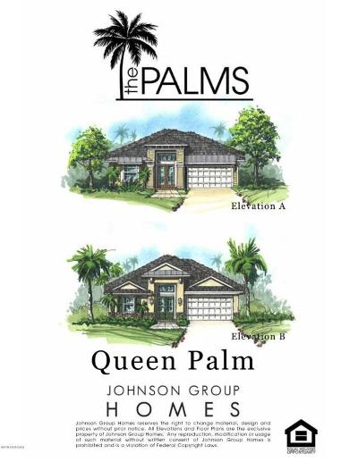 Venetian Bay Single Family Home For Sale: King Palm Dr Lot 120 Drive