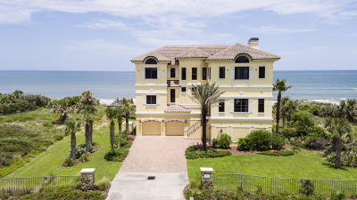 Hammock Dunes Single Family Home For Sale: 3907 N Ocean Shore Boulevard