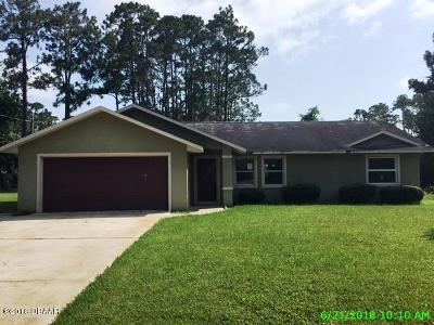 Palm Coast FL Single Family Home For Sale: $154,900