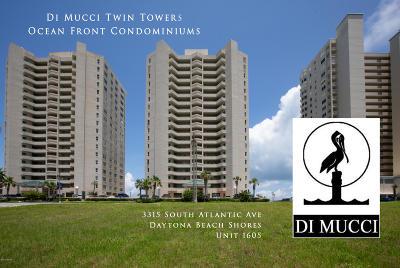 Daytona Beach Condo/Townhouse For Sale: 3315 S Atlantic Avenue #1605