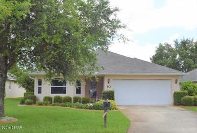 Ormond Lakes Single Family Home For Sale: 10 Volunteer Lane