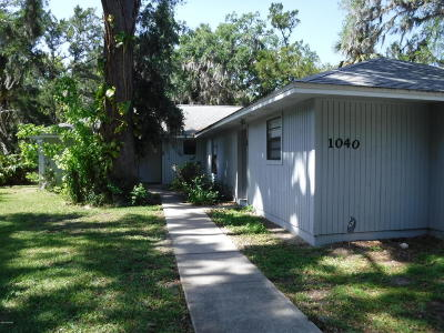 Daytona Beach Multi Family Home For Sale: 1040 Cedar Street