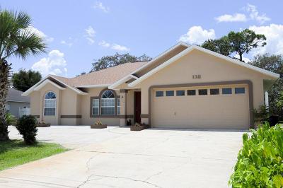 Palm Coast Single Family Home For Sale: 116 N Florida Park Drive