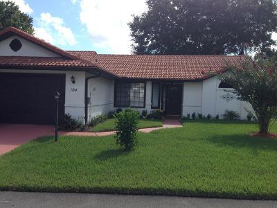 Daytona Beach Single Family Home For Sale: 104 Sea Sparrow Court