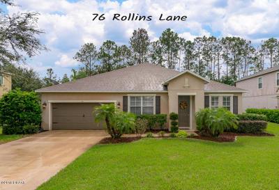 Palm Coast Single Family Home For Sale: 76 Rollins Lane