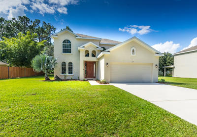 Palm Coast FL Single Family Home For Sale: $239,000