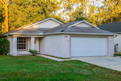 New Smyrna Beach Single Family Home For Sale: 528 Old Mission Road